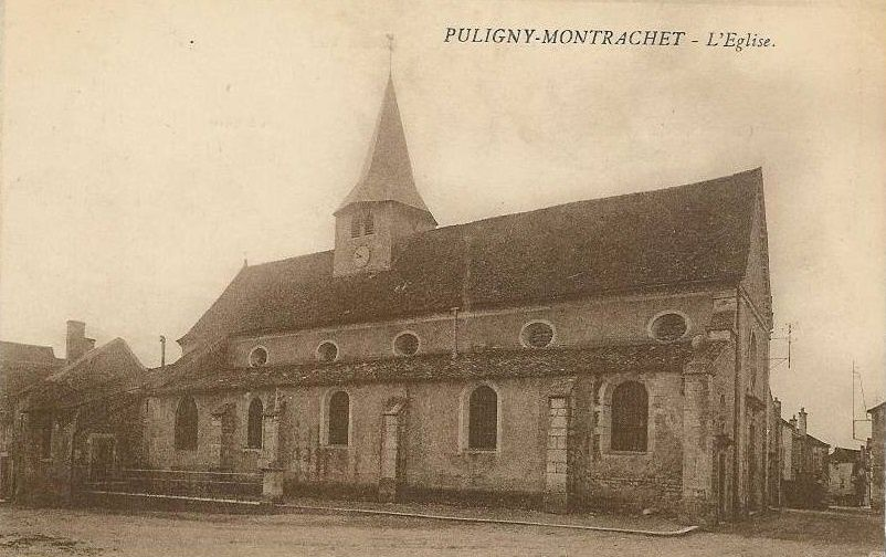 Puligny-Montrachet - L'église, le lavoir des Boudrières et cartes diverses - Puligny-Montrachet.