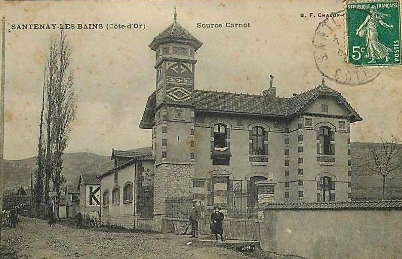 Santenay - Les sources : Source Santana, Source Carnot, Source Lithium et Fontaine Salée - Santenay.
