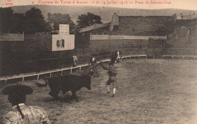 Théâtre Romain d'Autun, courses de Taureaux, juin 1911 et juillet 1913.