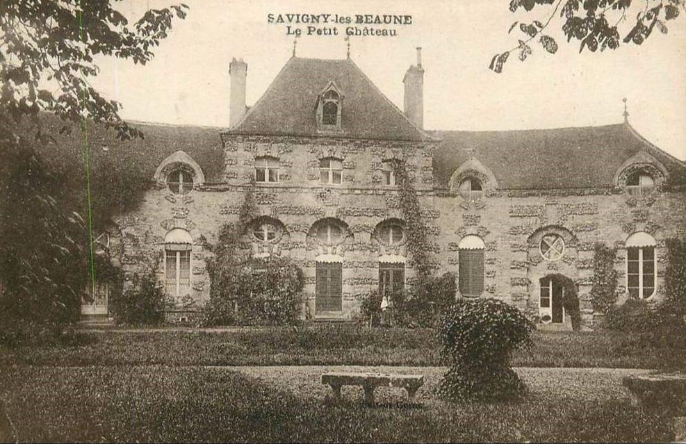Savigny-les-Beaune - Place Fournier, la fontaine, le petit château - Savigny-les-Beaune.