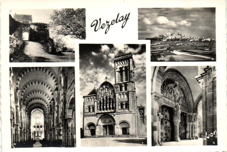 Vézelay - Vue générale et cartes multi-vues - Vézelay.