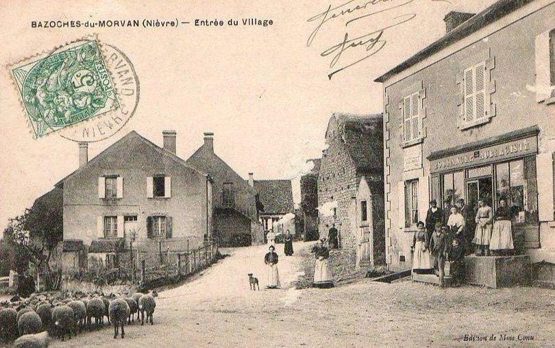 Bazoches - le moulin, l'entrée du village, l'école, le château de Vauban, le monument du Maréchal Vauban, l'église fin du XIIe siècle - Bazoches.
