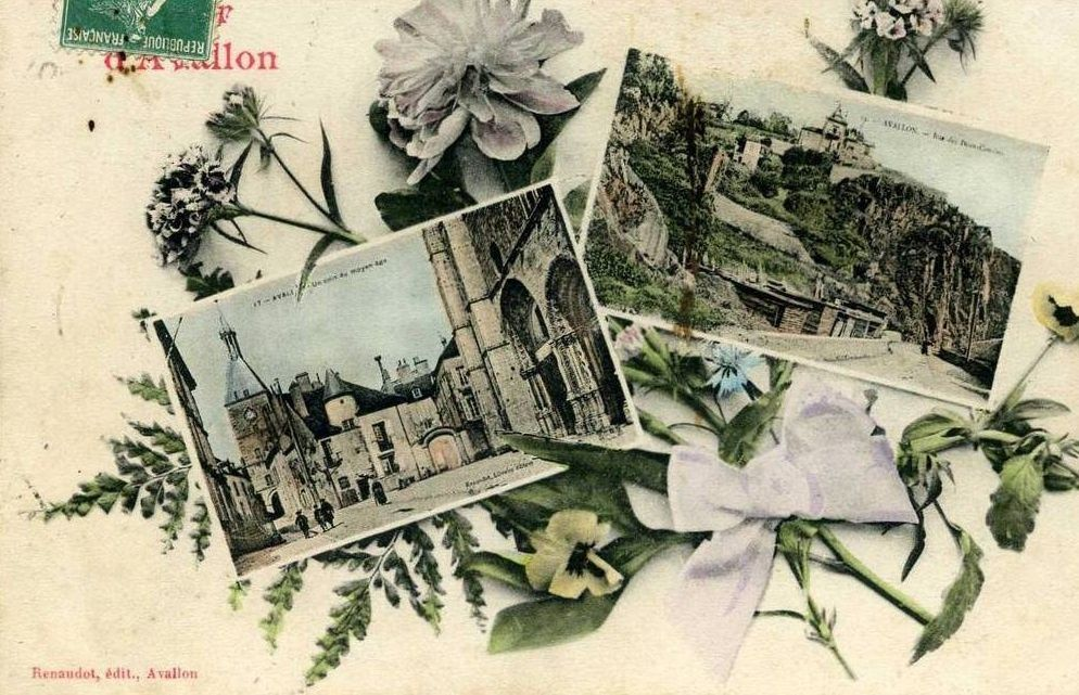 Avallon - Les armoireries, cartes souvenirs, cartes multivues - Avallon