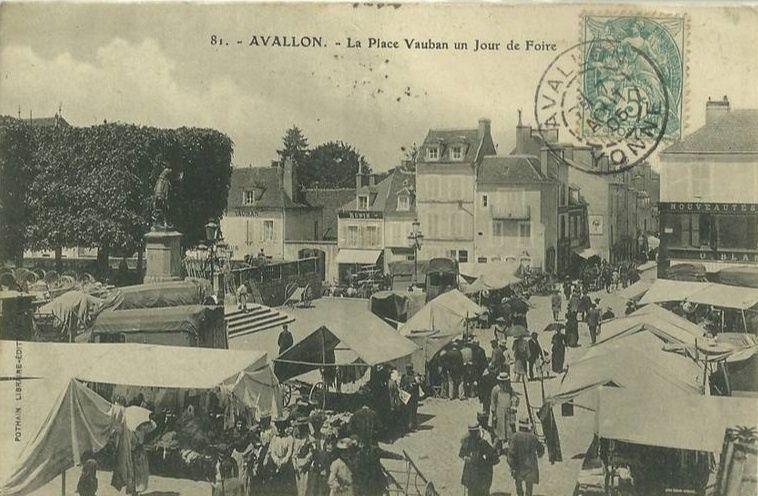 Avallon - Un jour de foire - Avallon.
