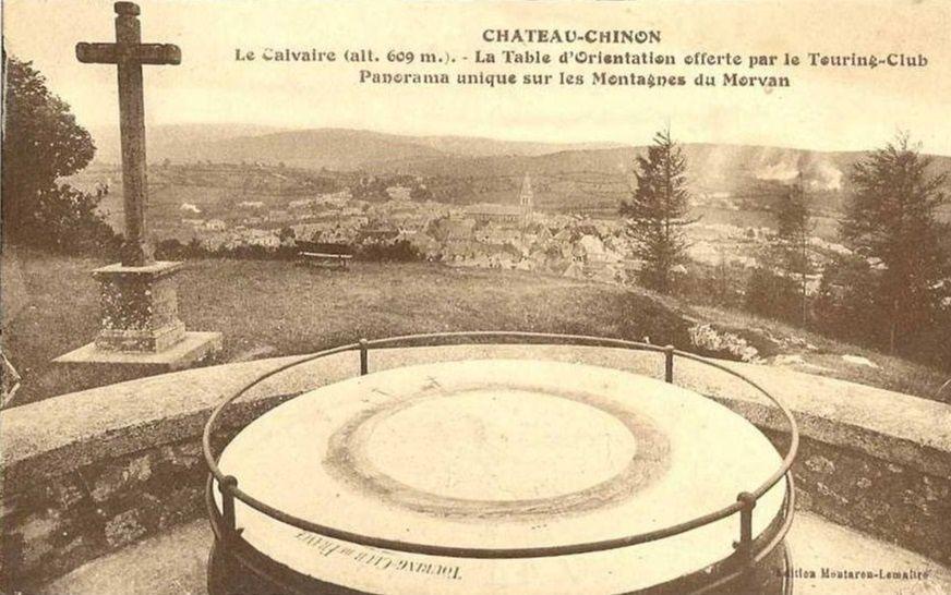 Château Chinon - Le Calvaire, Table d'Orientation - Château Chinon.