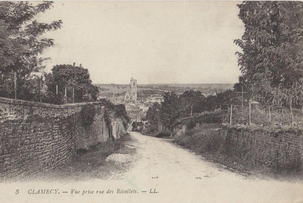 CLAMECY - Rue Claude Tillier, Rue de la Rampe, Rue de Tirman, Rue de Sambert, Rue des Granges, Rue des Récollets, Rue du Crot-Pinçon, Rue du Grenier à sel, Rue du Puits Marande, Rue du Vieux-Château  - CLAMECY