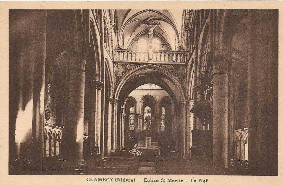 CLAMECY - Eglise Saint-Martin - Extérieur et intérieur - CLAMECY.