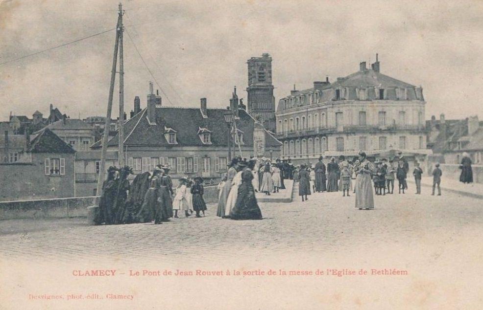 CLAMECY - Eglise de Béthléem, Eglise Notre Dame de Béthléem, la façade, l'ensemble, l'abside et l'intérieur - CLAMECY