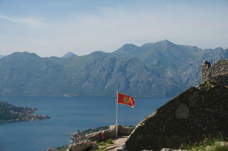 panoramique du sommet de la forteresse de Kotor