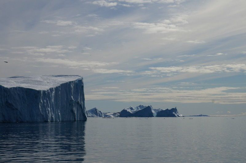 les icebergs de l'arctique