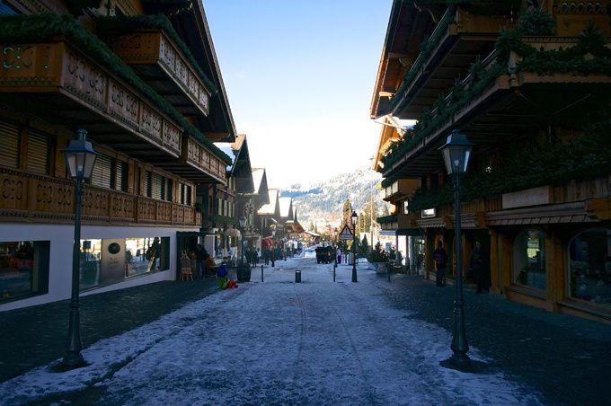 Rue principale de Gstaad