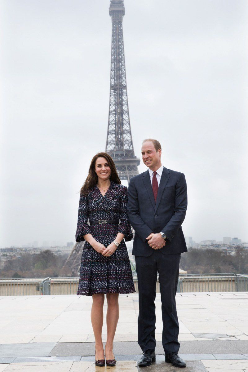kate et william la Tour Eiffel