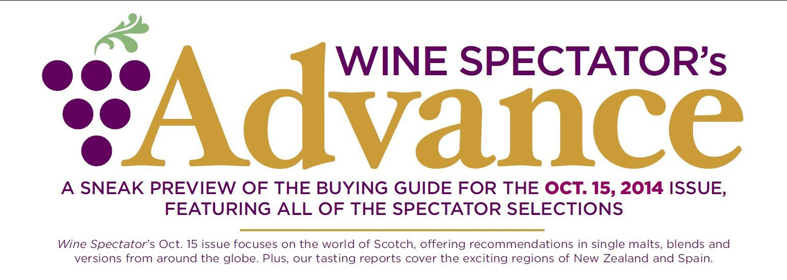 Wine Spectator's Advance for the Oct. 15, 2014 issue