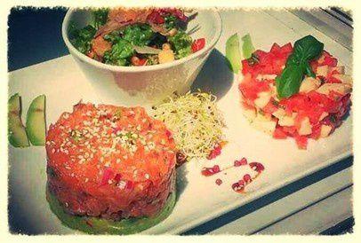 Tartare de saumon et guacamole