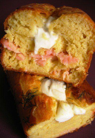 Cake saumon et mozzarella