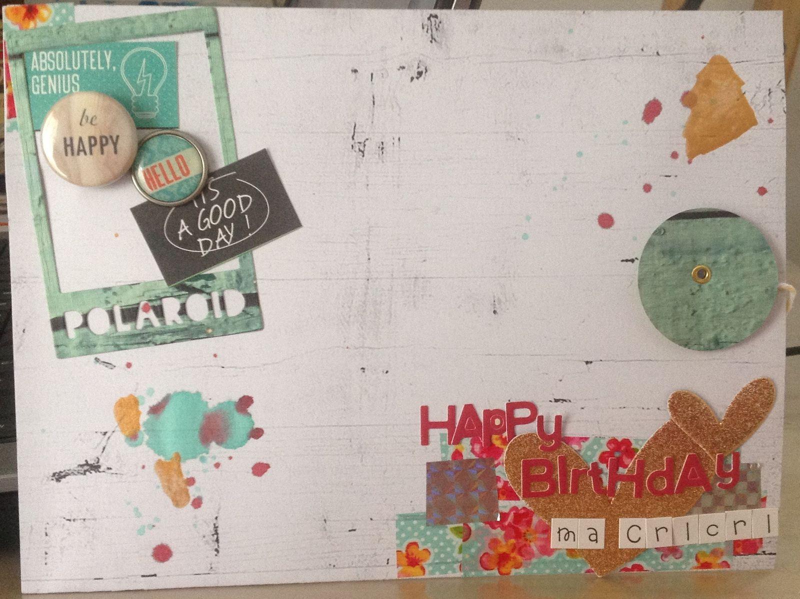 Un petite carte pour l'anniversaire d'une copine !!