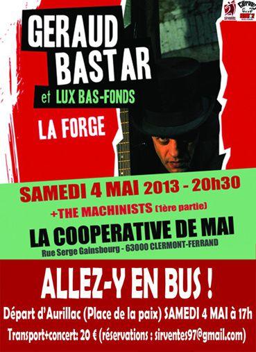 Tous à la Coopérative de mai avec Géraud Bastar !!