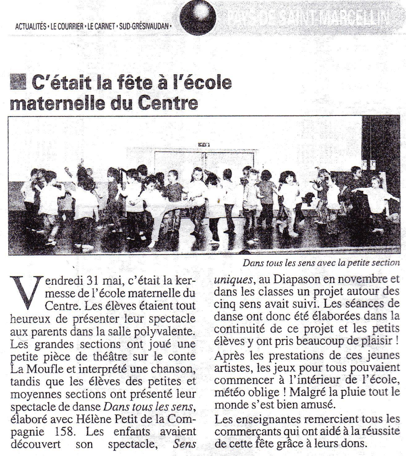&quot&#x3B;Dans Tous Les Sens&quot&#x3B; Ecole du centre St Marcellin
