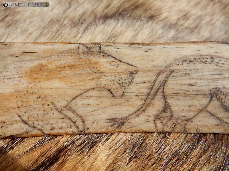 détail de la frise de lionne, grotte de la Vache (09), Magdalénien
