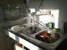 travaux cuisine!!mettre des photos de notre évier en piteux état!!lol