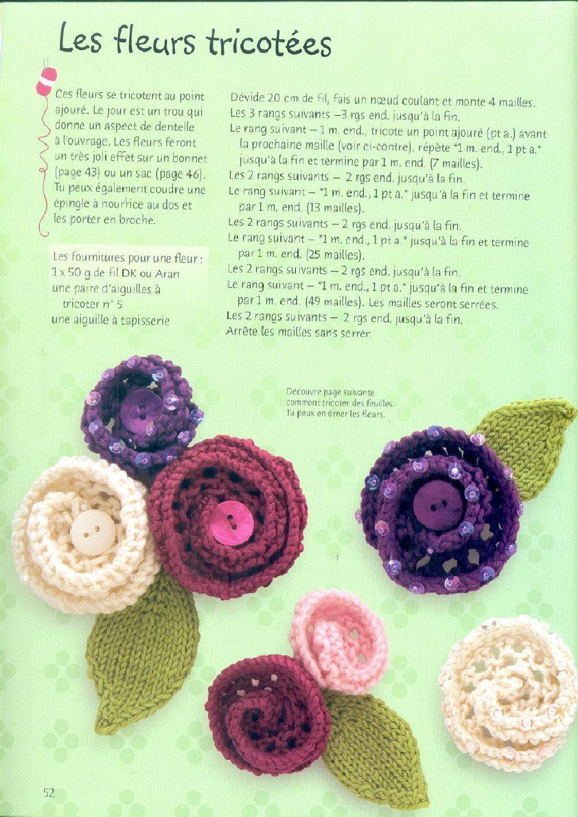 Petites fleurs au tricot