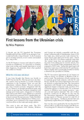 First lessons from the Ukrainian crisis