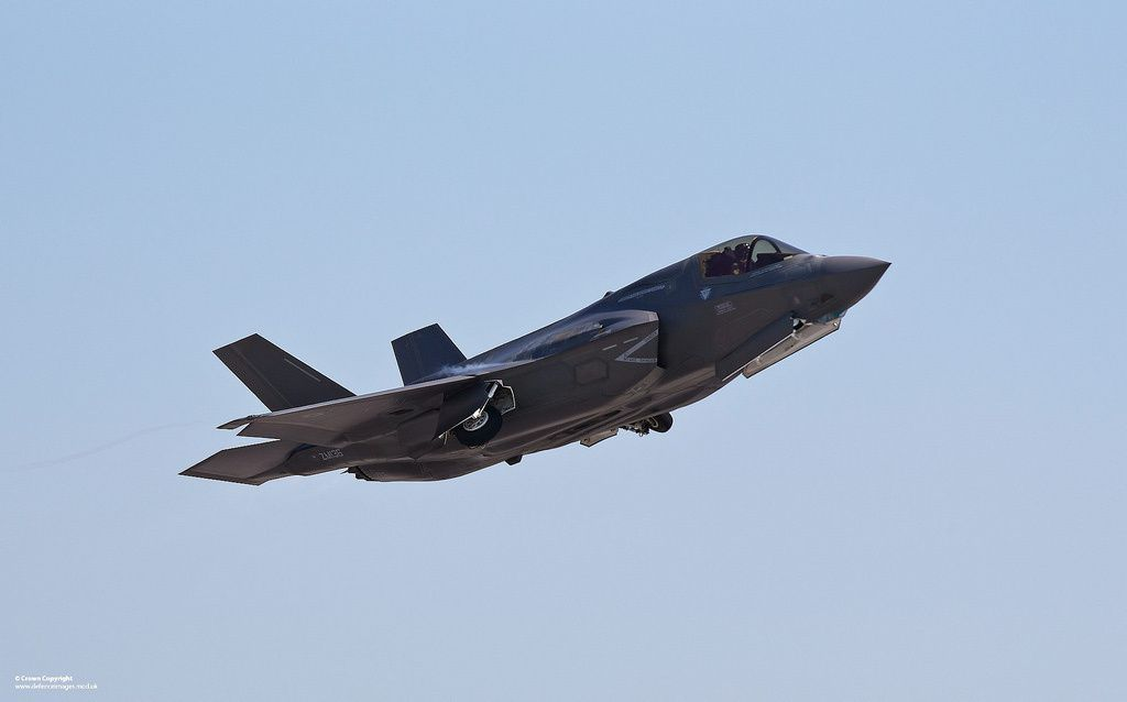 An F-35 Lightning II aircraft at Eglin Air Force Base, Florida [Picture: Harland Quarrington, UK MoD]