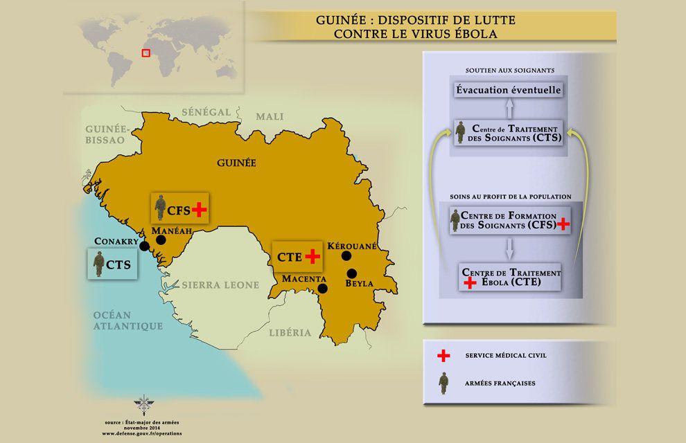 Contribution des armées françaises dans la lutte contre le virus Ebola en Guinée