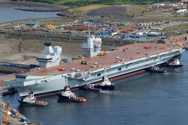 Defence Secretary gets update on aircraft carrier project