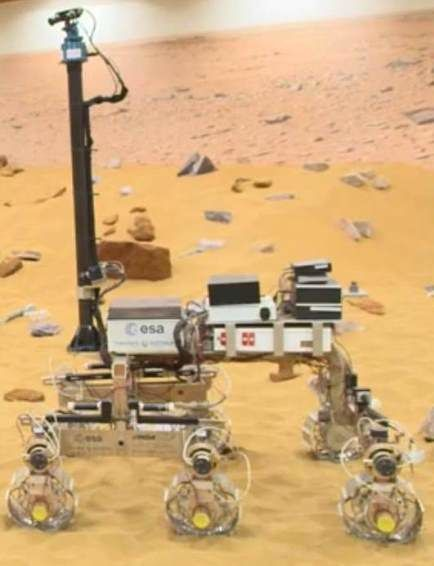 "Europe's first Mars Rover and their sandy ""playground"""