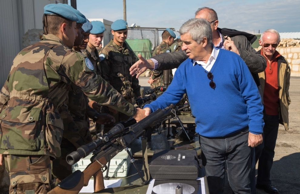Liban : le maire de Tarbes visite les soldats du 1er RHP et du 35e RAP