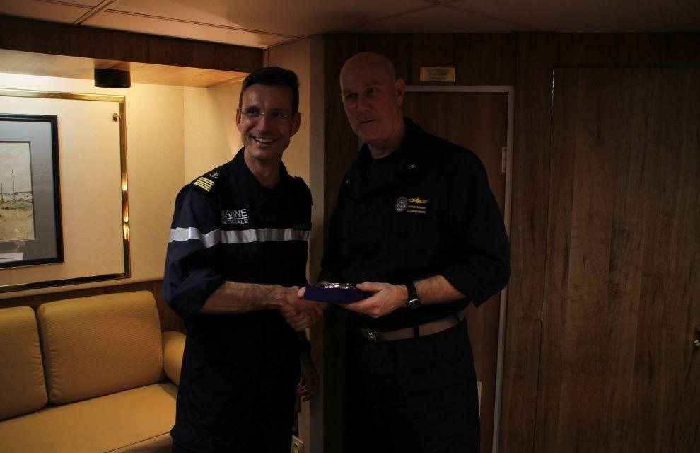 Chammal : visite du commandant de la TF 50 à bord du Jean Bart