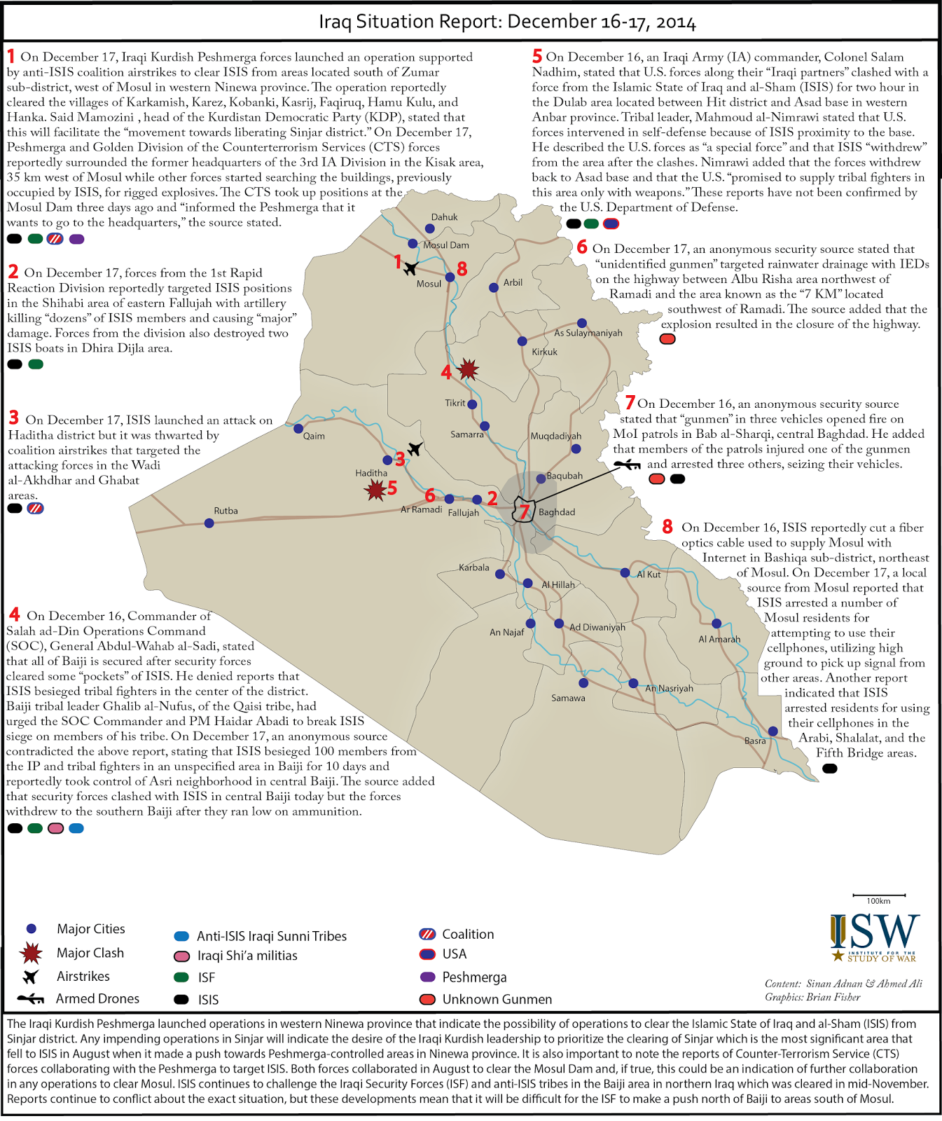 (16-17 dec, 2014) Situation Report by ISW