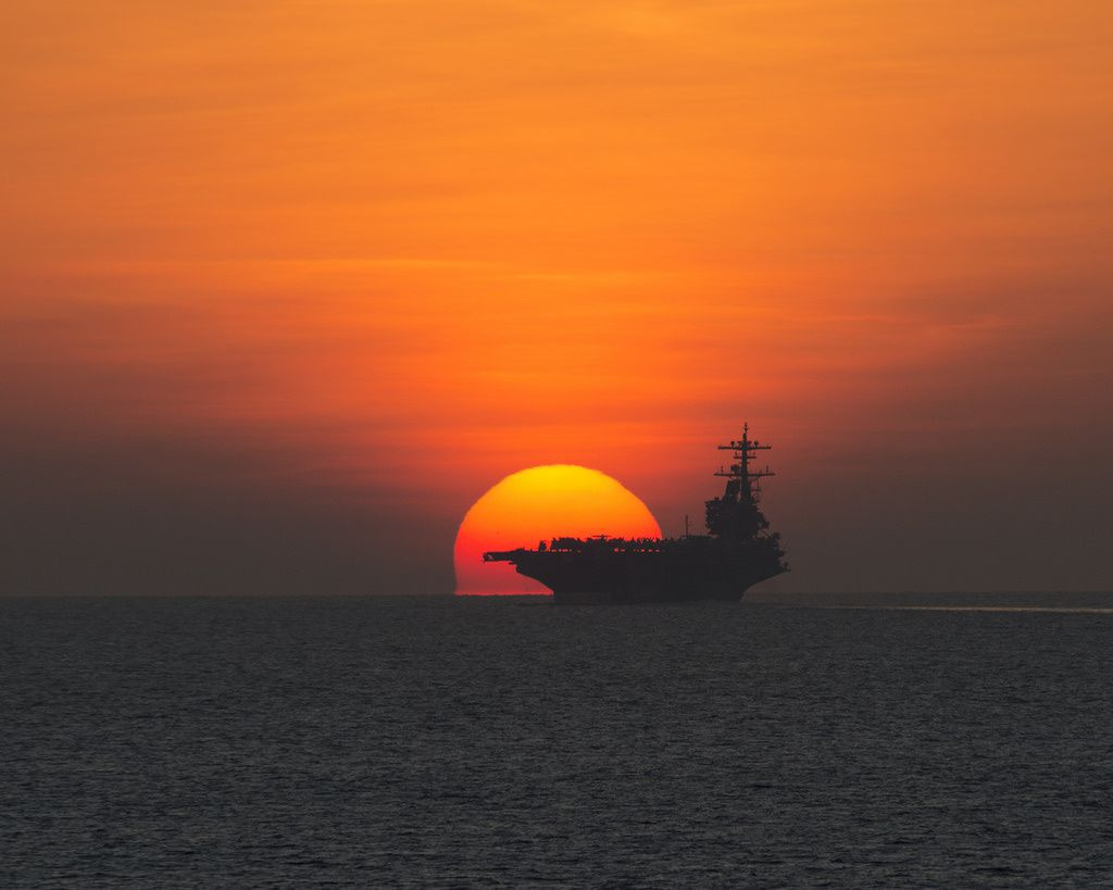 USS George H.W. Bush is underway to Naval Station Norfolk (oct 2014)
