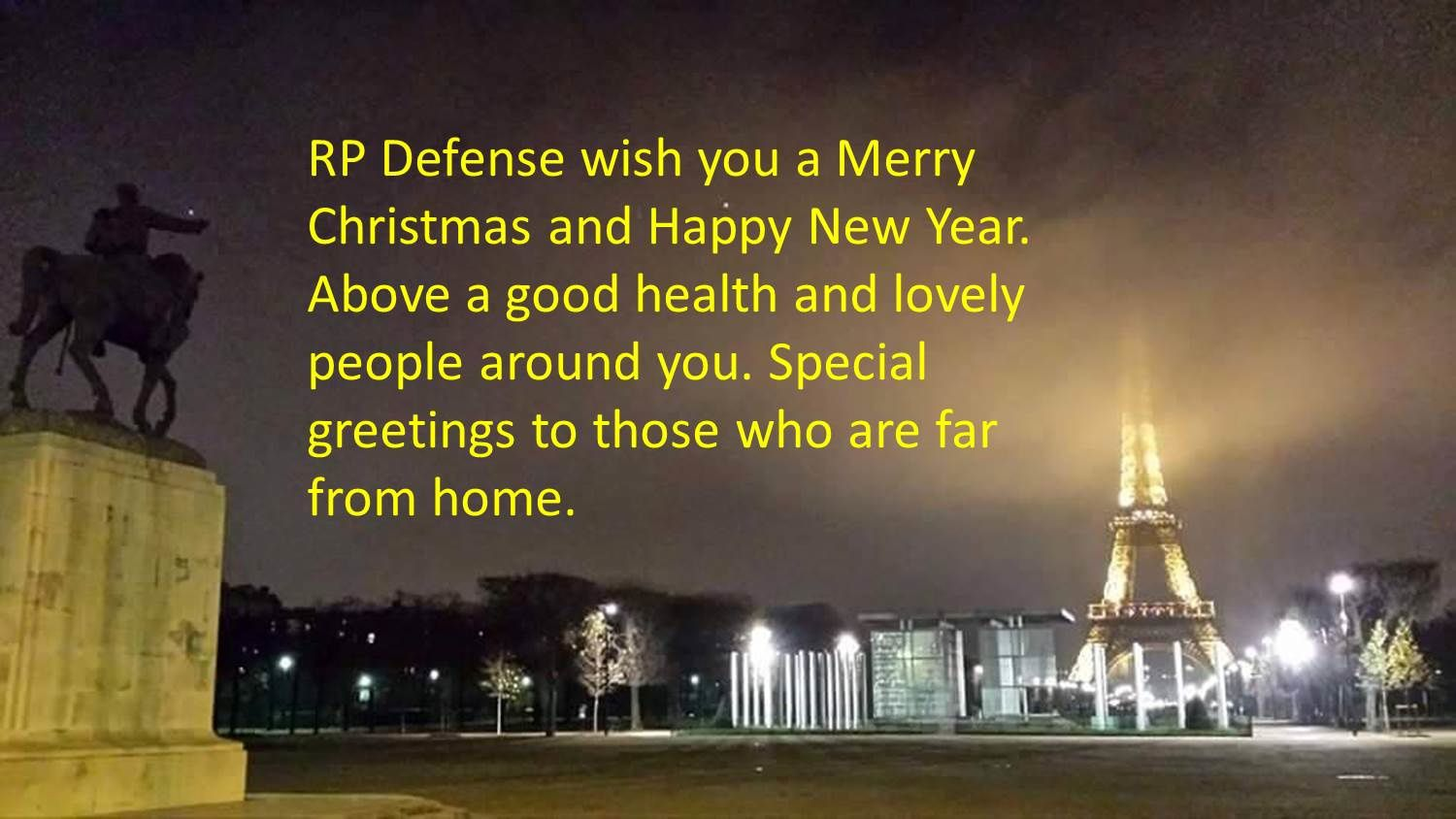 RP Defense wish you a Merry Christmas and Happy New Year !