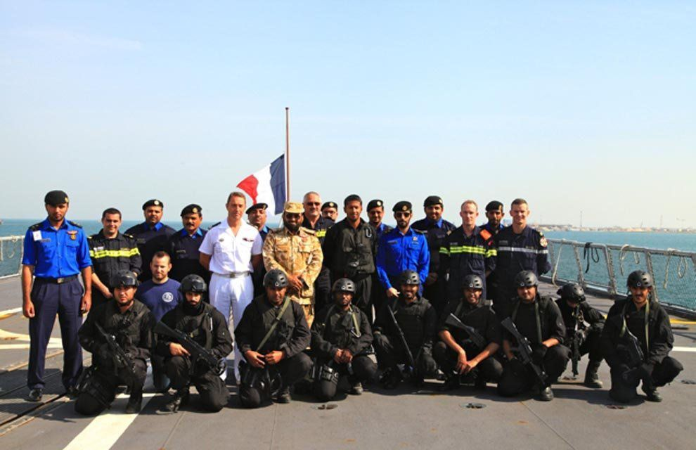 Le Guépratte en exercice avec la marine qatarie