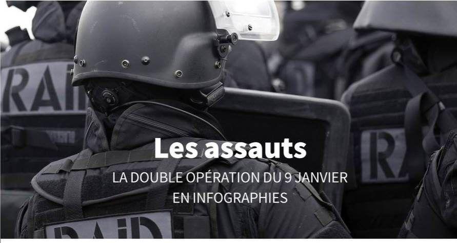 Infographie : le double assaut des forces de l'ordre contre les terroristes