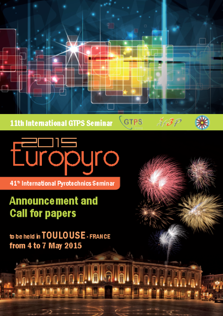 EUROPYRO 2015  - 04 - 07 May 2015 Toulouse France