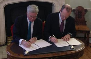 UK and Ireland sign historic defence agreement