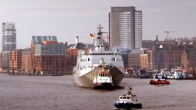 Chinesischer Marineverband zu Gast in Hamburg