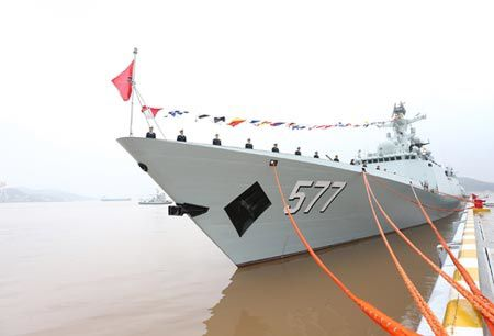 Chinese Navy commissions new Huanggang missile destroyer