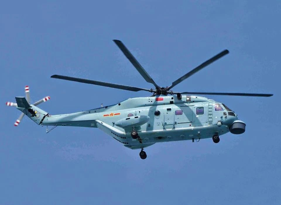 People's Liberation Army Navy (PLAN) anti-submarine warfare (ASW) Z-18F Helicopter.