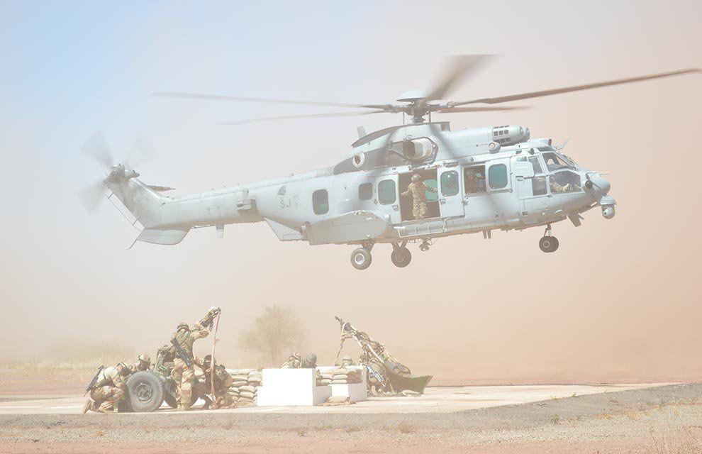 Op Barkhane : entraînement au « sling » de la section d'appui mortier du GTD Est