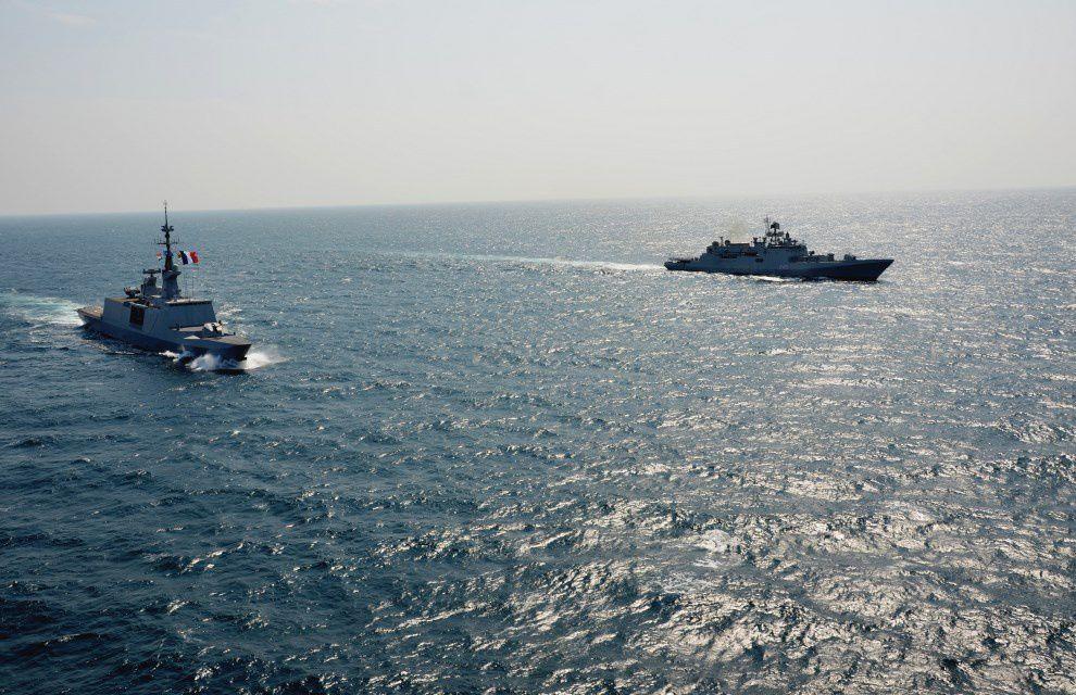 Océan Indien : le Guépratte en exercice avec la marine indienne au large de Goa