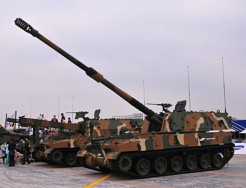K-9 Thunder self-propelled artillery of the ROK Armed Forces