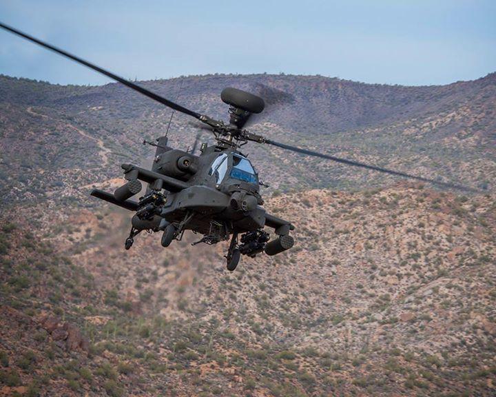 Hélicoptère de combat Apache AH-64E - photo Boeing