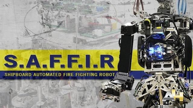 Naval Research Laboratory Designs Robot for Shipboard Firefighting
