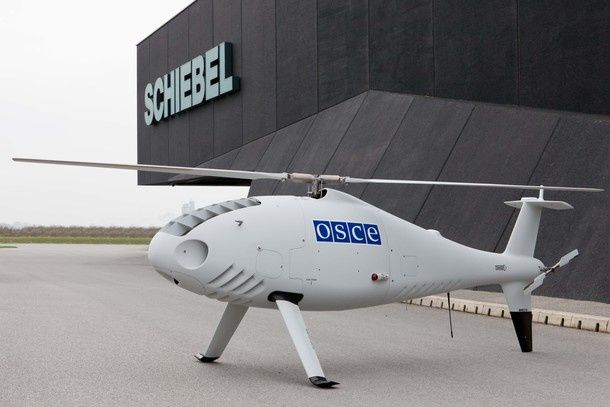 Schiebel Camcopter S-100 being used by OSCE to monitor ceasefire in eastern Ukraine.