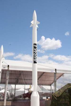 Barak-8 missile. photo Georges Seguin