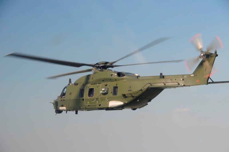 Premier vol de formation pour la version transport du NH90 en Belgique